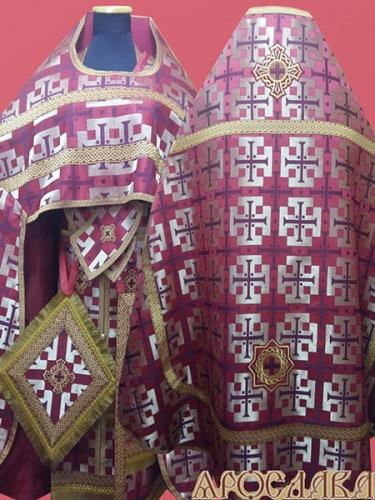 АКЦИЯ. АРТ1351. Риза бордовая парча Архаик.