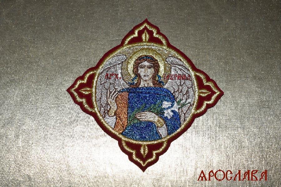 АРТ1502. Икона Архангела Гавриила в кресте.