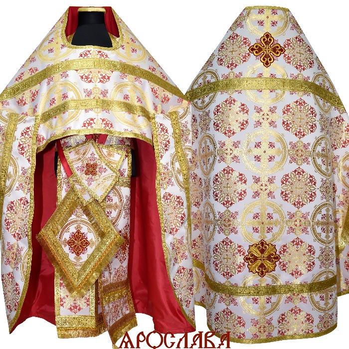 АРТ1544. Риза шелк Почаевский, обыденная отделка (галун цвет золото)