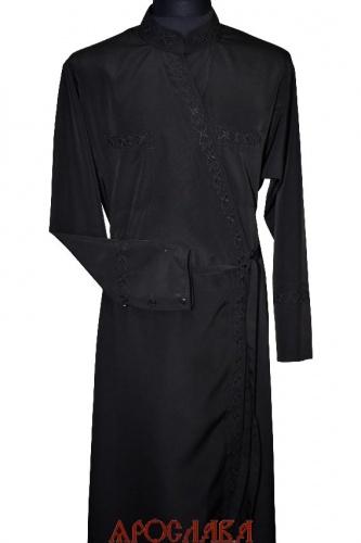 АРТ1569. Подрясник греческий. Ткань  мокрый шелк. Вышивка рис  №12: ворот,нагрудные карманы, манжеты.
