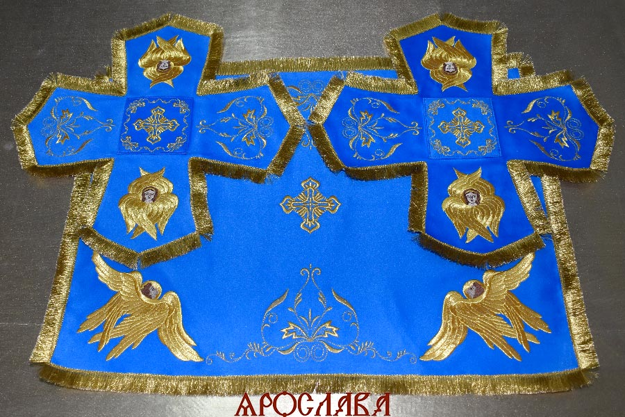 АРТ1584. Покровцы вышитые Благородный, с вышитыми херувимами.