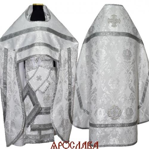 АРТ 1619. Риза белый шелк Павловская Роза,обыденная отделка.