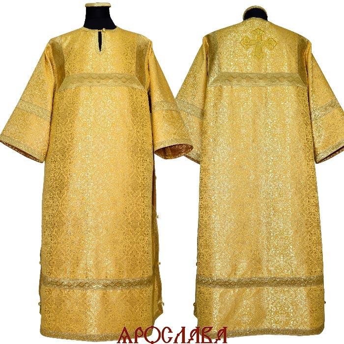 АРТ 1627. Стихарь желтый шелк Шуйский,  отделка цветной галун (цвет золото).