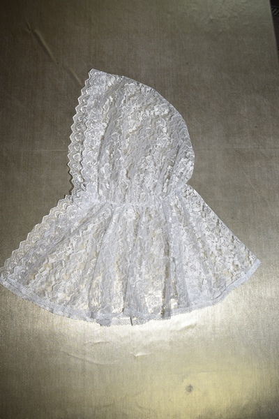АРТ1705 Ниспадающий Донской платок. Ткань гипюр.