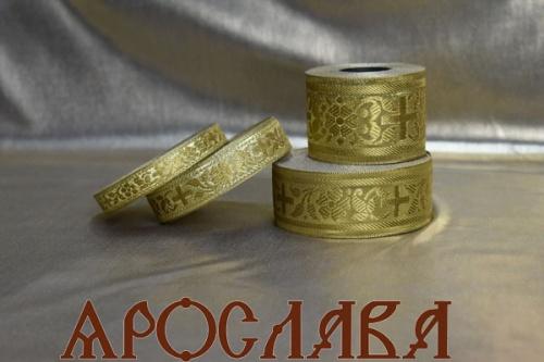 АРТ1732. Галун обыденный. Цвет золото.Ширина 3,5см.