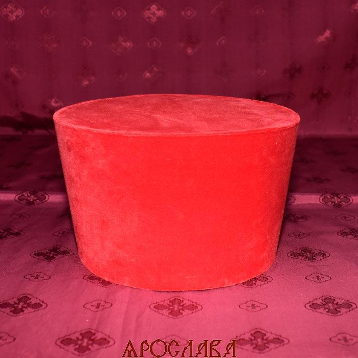 АРТ1801 Камилавка красная. Ткань бархат.