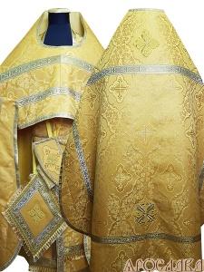 АРТ180. Риза желтая парча Донская, обыденная отделка (цвет золото).
