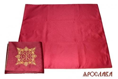 АРТ1822. Илитон на престол вышитый с печатью Альфа-Омега второй тип. Размер 80*70.Ткань однотонный атласный шелк.