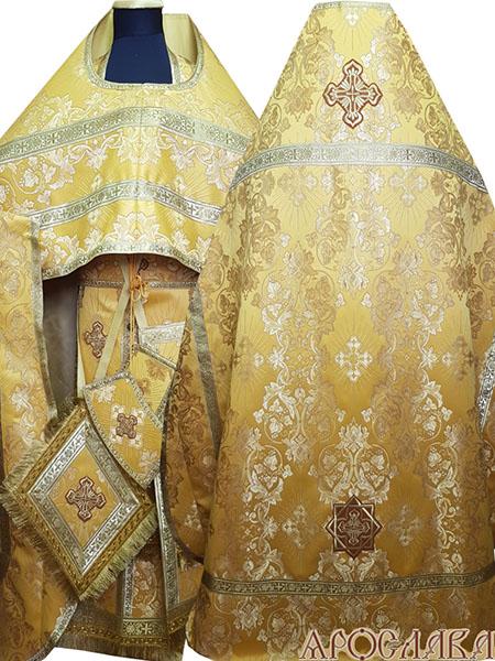 АРТ182. Риза шелк Слуцкий,обыденная отделка (цвет золото).