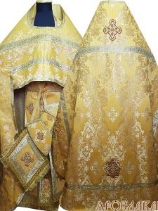 АРТ182. Риза желтый шелк Слуцкий,обыденная отделка (цвет золото).