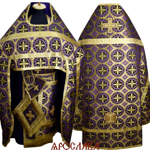 АРТ1845. Риза фиолетовый шелк Троицкий.