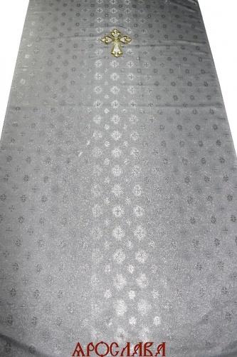 АРТ1847. Катапетасма. Ткань парча с люриксом Завиток. Вышитый крест на парче.