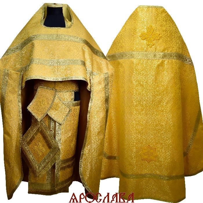 АРТ1849.Риза желтый шелк Шуйский,обыденная отделка (цвет золото).