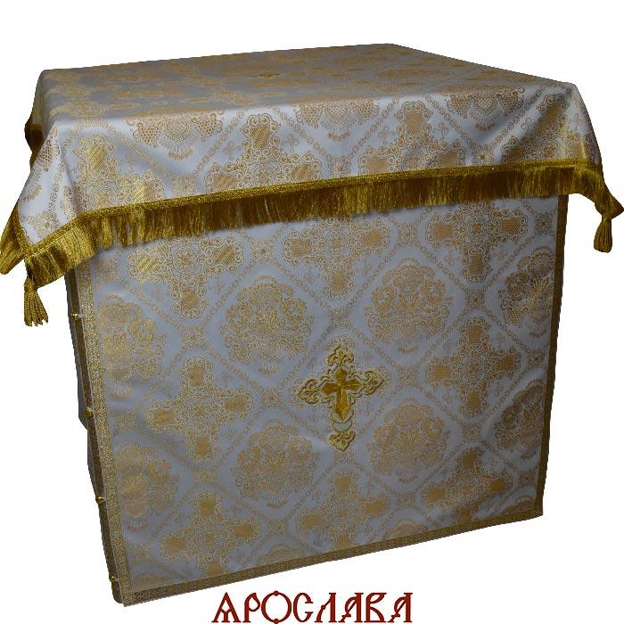 АРТ1854. Облачение на престол  шелк Донецкий, отделка цветной галун.