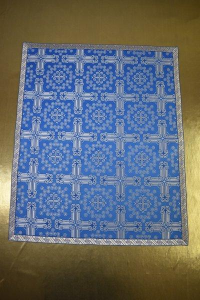 АРТ1867.Накидка на аналой шелк Подольский,отделка цветной галун. Размер:70*60
