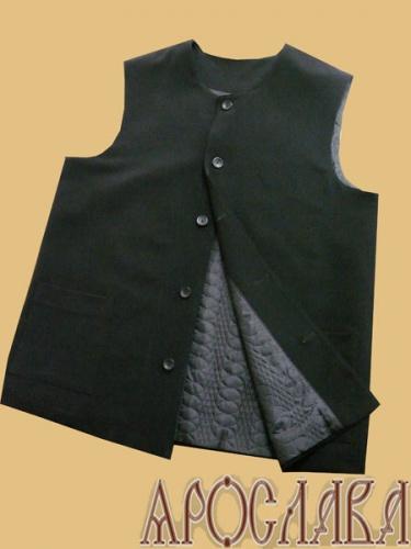 АРТ1871 Жилет ткань габардин, утепленный синтепоном, на пуговицах, два нижних накладных кармана.Размер 52-54, Ди-81см