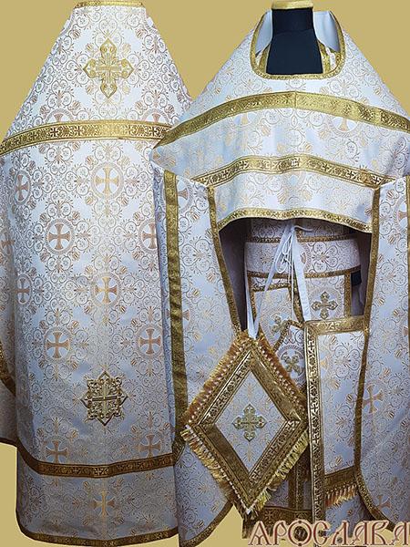 АРТ187. Риза парча Алтайский, обыденная отделка (цвет золото).