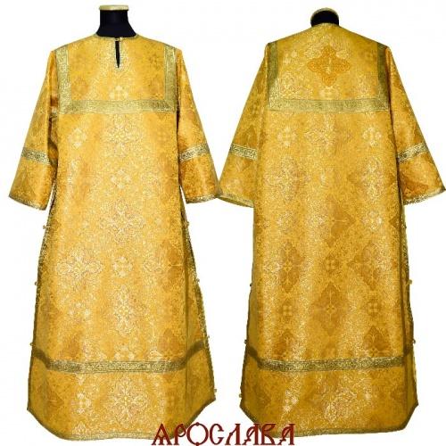 АРТ1898. Стихарь желтый шелк Виленский, обыденная отделка (цвет золото).