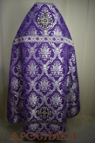 АРТ1970. Риза шелк Корона, отделка цветной галун(фиолетовый с серебром).  170/48