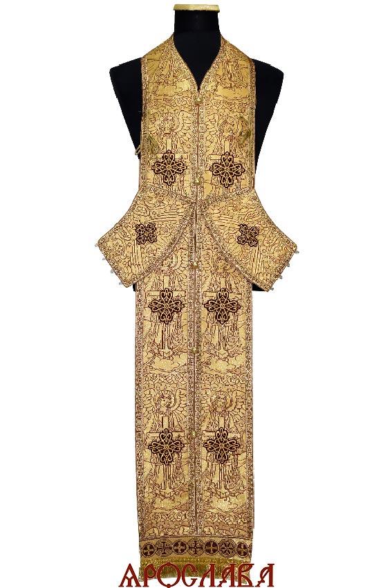 АРТ1979. Требный набор по греческому типу, греческая парча Ангелы, отделка цветной галун.