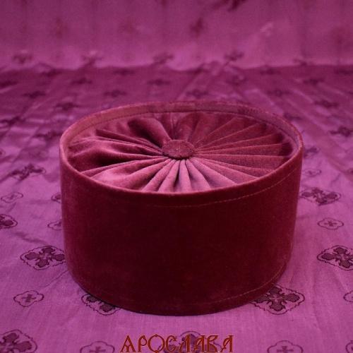 АРТ1981. Скуфия греческая,ткань бархат.  Без декоративных элементов. Подклад хлопок.
