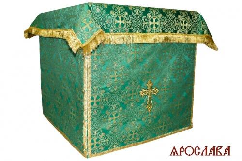 АРТ1992.Облачение на престол  парча Алтайский, обыденная отделка.