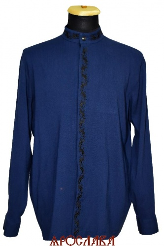 АРТ1995. Рубашка . Ткань лен, вышитый ворот,планка.рис.№1