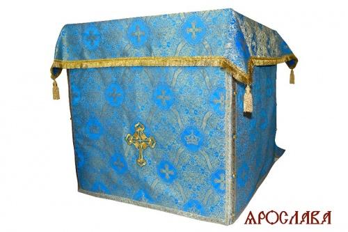 АРТ2009. Облачение на престол парча Корона, отделка цветной галун.