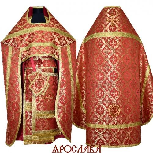 АРТ2076. Риза красный шелк Никольский, обыденная отделка.