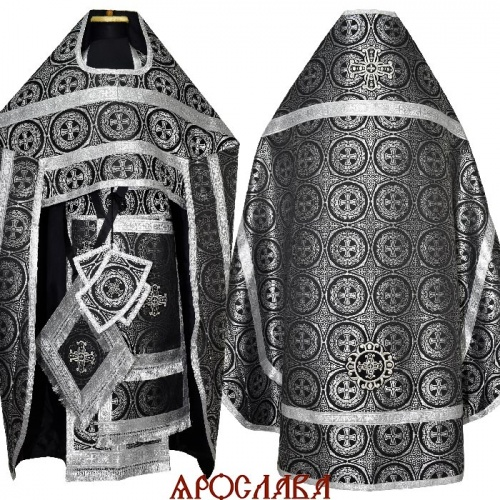 АРТ2127. Риза шелк Константиновский,обыденная отделка (цвет серебро).