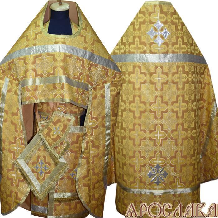 АРТ213. Риза шелк Кустодия, простая отделка (цвет золото).