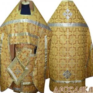 АРТ213. Риза желтый шелк Кустодия, простая отделка (цвет золото).