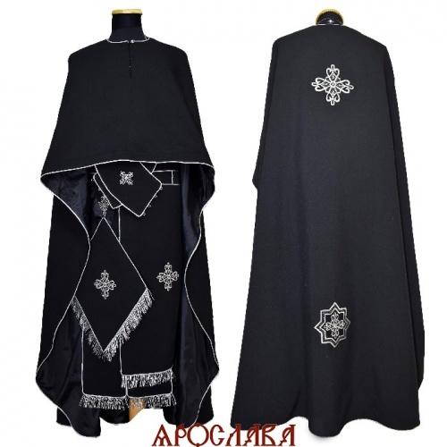 АРТ2177. Риза греческий крой, ткань лен,с кантом серебряного цвета, витая бахрома.