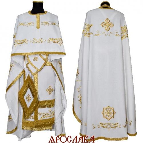 АРТ2185. Риза греческий крой, вышитая рисунок Благородный, ткань лен.