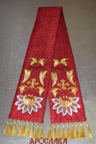 АРТ2192. Заклада в Евангелие рисунок вышивки Лотос,низ украшен кистями.