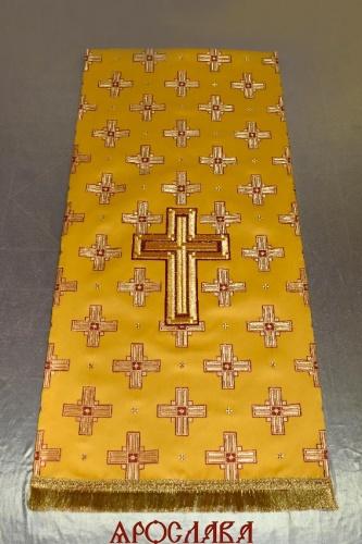 АРТ 2228. Накидка перекидная на аналой с вышитым крестом.