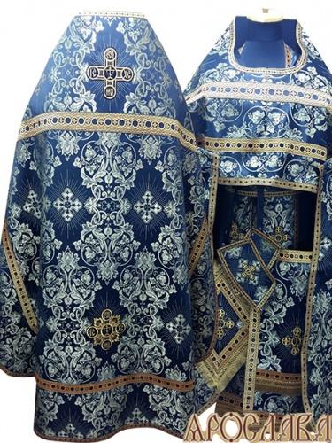 АРТ222. Риза черный с золотом шелк Слуцкий, отделка цветной галун(черный с золотом).