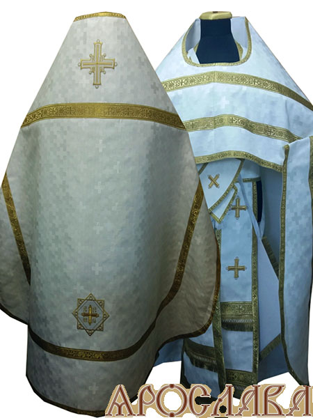 АРТ229. Риза шелк Полтавский крест, обыденная отделка (цвет золото).