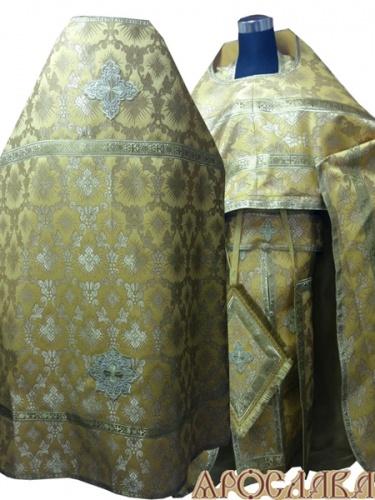 АРТ254. Риза желтая шелк Терновый венец, обыденная отделка (цвет золото).