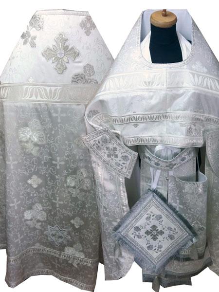 АРТ264. Риза греческий шелк с Розами, отделка греческий галун, кисти на палице.