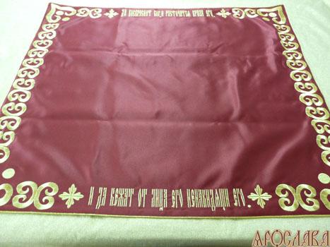 АРТ296. Илитон на престол вышитый Голгофа. Размер 80*70.Ткань однотонный атласный шелк.