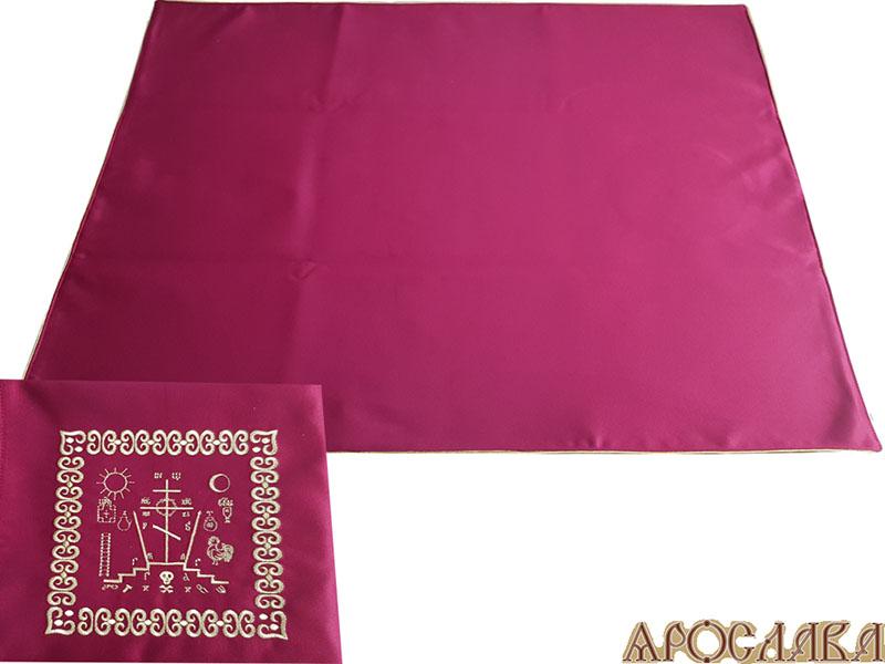 АРТ305. Илитон на престол вышитый с печатью Голгофа. Размер 80*70.Ткань однотонный атласный шелк.