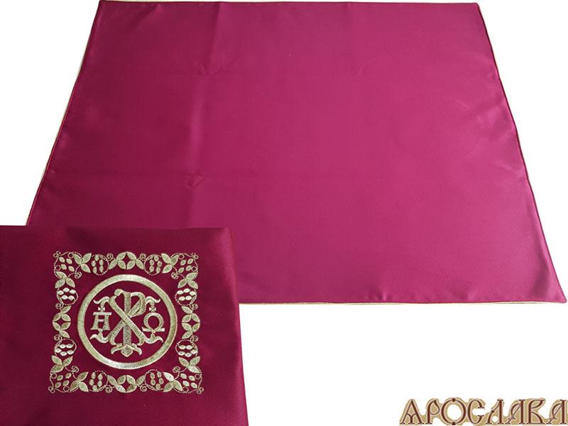АРТ306. Илитон на престол вышитый с печатью Альфа-Омега. Размер 80*70.Ткань однотонный атласный шелк.