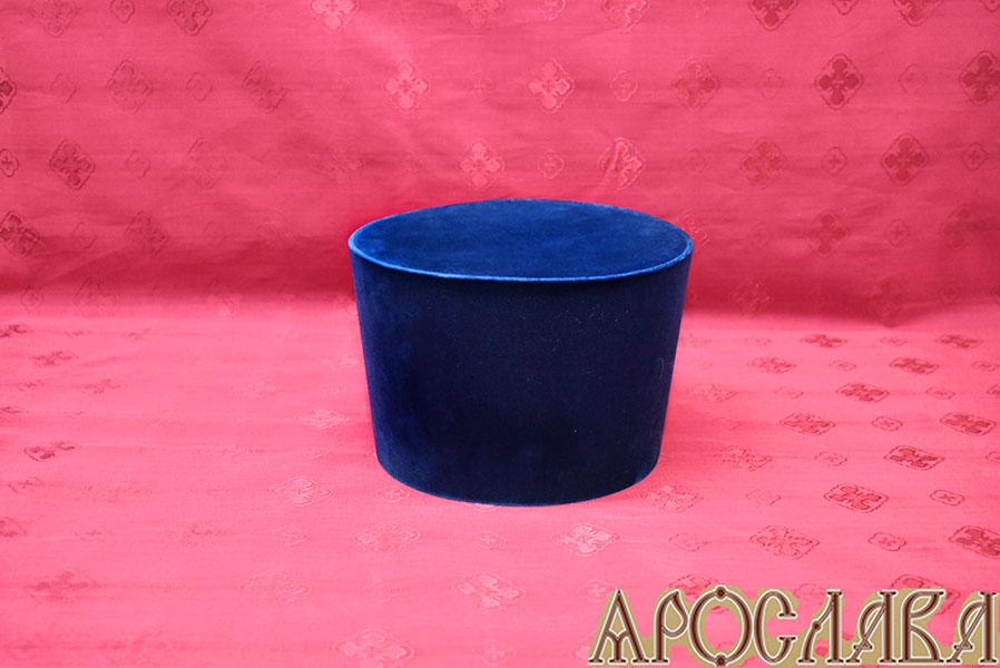 АРТ339. Камилавка темно-синяя(уставная).Ткань бархат.