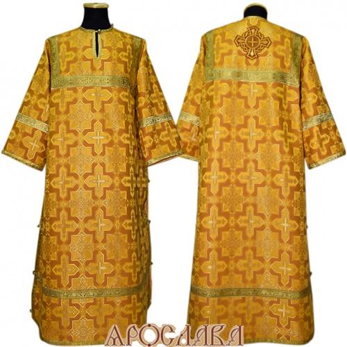АРТ 376. Стихарь желтый  шелк Кустодия, обыденная отделка (цвет золото).