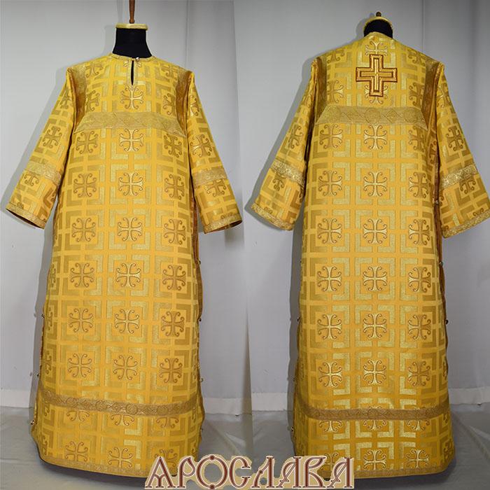 АРТ 387. Стихарь желтый шелк Каппадокия, отделка цветной галун (цвет золото).
