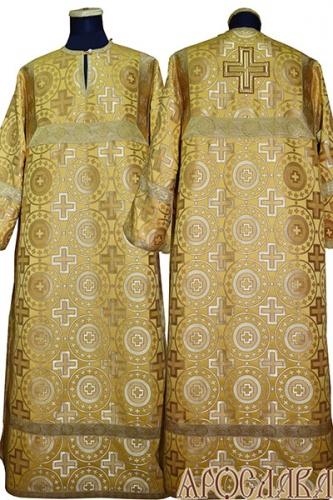 АРТ 391. Стихарь шелк Мирликийский крест крупный, отделка цветной галун (цвет золото).