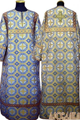 АРТ 393. Стихарь голубой с золотом шелк Троицкий, отделка цветной галун (голубой с золотом).