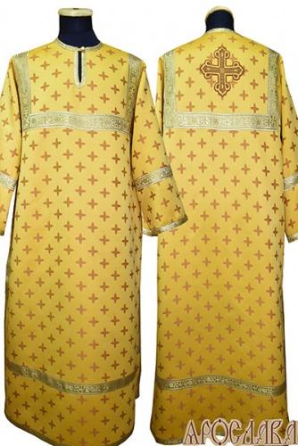 АРТ 400. Стихарь желтый шелк Крещенский, обыденная отделка (цвет золото).