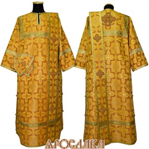 АРТ434. Диаконское облачение желтый шелк Кустодия, обыденная отделка (цвет золото).